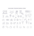 trading exchange set doodle icons vector image vector image