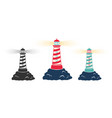 vintage icons a lighthouse vector image