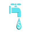 Water faucet leaking or pouring money Money vector image vector image