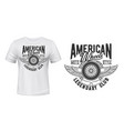 winged wheel with laurel wreath t-shirt print vector image vector image