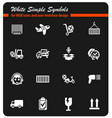 delivery service icon set vector image