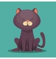 cute kitti gray sit icon vector image