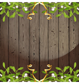 wooden back with omela vector image