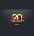 20th year anniversary background vector image vector image