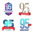 95 Years Anniversary Symbol vector image vector image