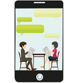 A business meeting vector image vector image