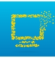Abstract creative concept icon of monitor vector image vector image