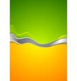 Abstract green and orange background vector image