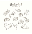 Arabic food set Arabian cuisine vector image vector image