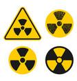 atomic radioactive sign icon radiation vector image vector image