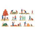 autumn gathering men women and children vector image