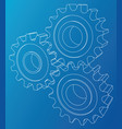 background industrial design gears conceptual 3d vector image vector image