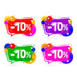 banner 10 off with share discount percentage vector image
