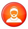 Bearded man avatar icon flat style vector image vector image