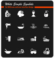 beauty and spa icon set vector image vector image