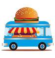 Burger Van vector image vector image