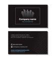 business company business card template front and vector image vector image