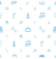 celebration icons pattern seamless white vector image vector image