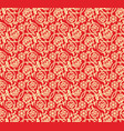chinese red seamless pattern vector image vector image