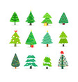 clipart cartoon christmas trees pines vector image