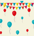 colorful balloons design vector image vector image