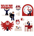 deadline and time management concept elements set vector image vector image
