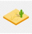 desert cactus landscape isometric icon vector image