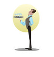 digital funny cartoon tall vector image