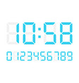 digital numbers on white background vector image vector image