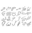 doodle arrow set sketch engraving vector image vector image