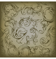 engraved floral seamless pattern vector image vector image
