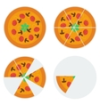 Four pizzas icons vector image