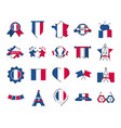 france and bastille day line and fill style icon vector image
