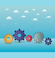 gears machinery in the sky vector image