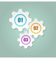 Gears with numbers vector image vector image