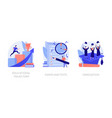 getting an academic degree concept vector image vector image