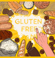 gluten free background with flour breads pastries vector image vector image
