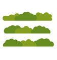 green bush landscape flat icon isolated on white vector image vector image