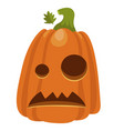 halloween pumpkin icon holiday decoration for vector image vector image