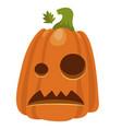 halloween pumpkin icon holiday decoration vector image vector image