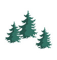 hand drawn christmas tree group isolated on a vector image vector image
