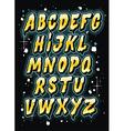 Hand drawn comics style letttering font alphabet vector image