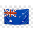 hanging flag australia commonwealth of vector image