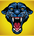 head angry black panther vector image vector image