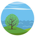 landscape with a lonely tree vector image
