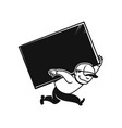 loader man icon for delivery service or moving vector image