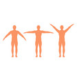 male silhouette with arms spread out in different vector image vector image