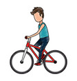man riding bicycle avatar character vector image