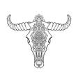 mandala tattoo style dead cow head decorative vector image