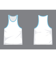 Mens singlet template with shading vector image vector image